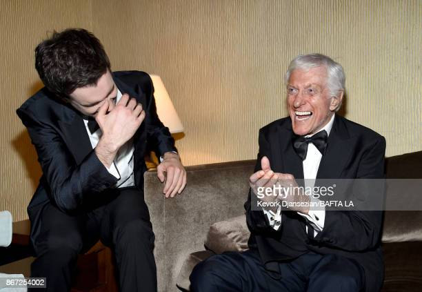 Jack Whitehall and Dick Van Dyke attends the 2017 AMD British Academy Britannia Awards Presented by American Airlines And Jaguar Land Rover at The...