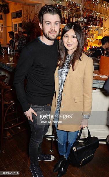 Jack Whitehall and Gemma Chan attend the launch of new restaurant West Thirty Six on January 29 2015 in London England