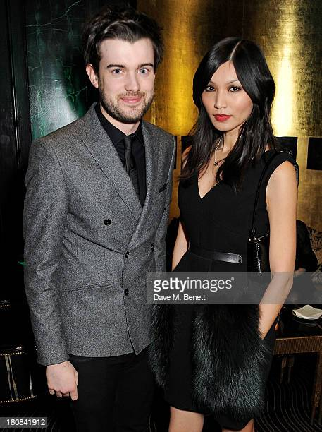 Jack Whitehall and Gemma Chan attend the PreBAFTA Party hosted by EE and Esquire ahead of the 2013 EE British Academy Film Awards at The Savoy Hotel...