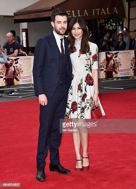 Jack Whitehall and Gemma Chan attend the World Premiere of 'The Bad Education Movie' at the Vue West End on August 20 2015 in London England