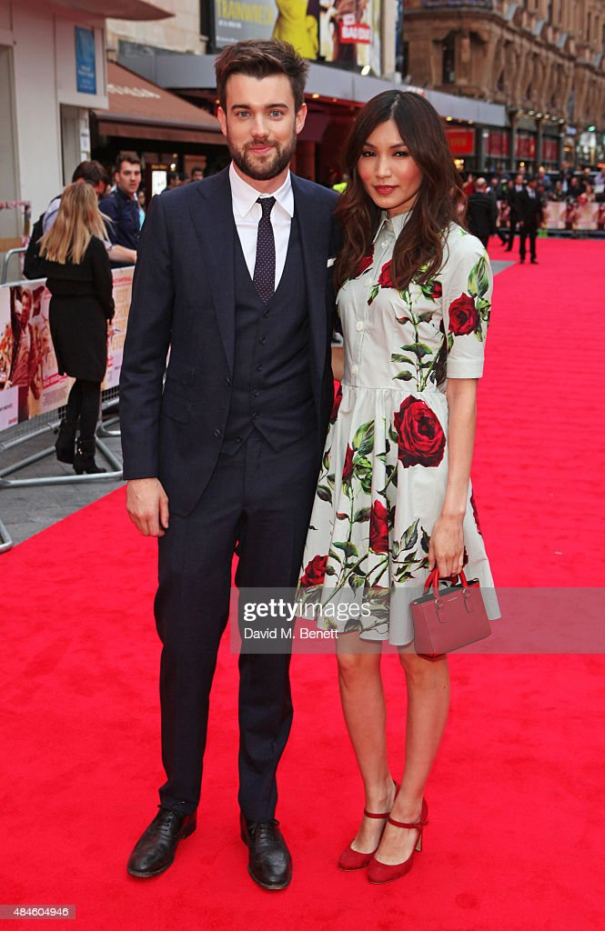 Jack Whitehall (L) and Gemma Chan attend the World Premiere of 'The Bad Education Movie' at Vue West End on August 20, 2015 in London, England.