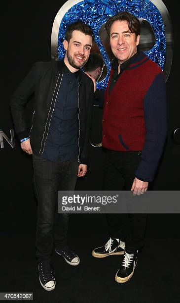 Jack Whitehall and Jonathan Ross attend The Warner Music Group And Belvedere Brit Awards After Party In Association With Vanity Fair at The Savoy...