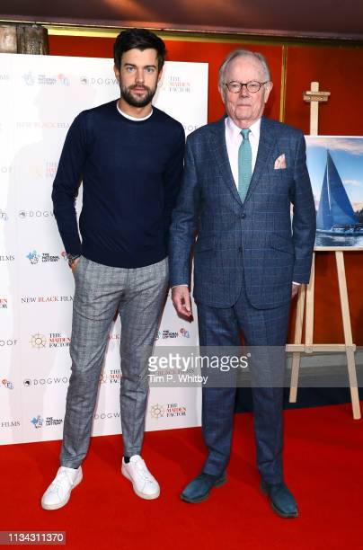 Jack Whitehall and Michael Whitehall attend the Maiden premiere at The Curzon Mayfair on March 07, 2019 in London, England.