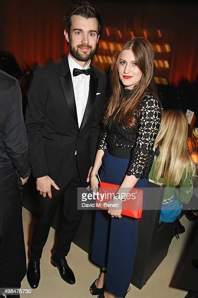 Jack Whitehall and Molly Whitehall attend a drinks reception at the British Fashion Awards in partnership with Swarovski at the London Coliseum on...
