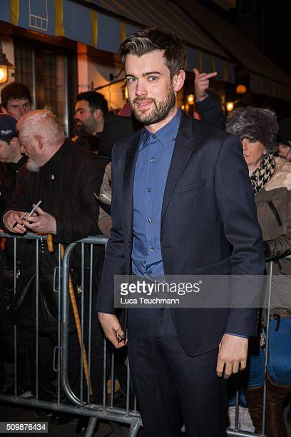 Jack Whitehall arrive the Weinsten x Grey Goose Pre BAFTA party at Little House Mayfair on February 12 2016 in London England