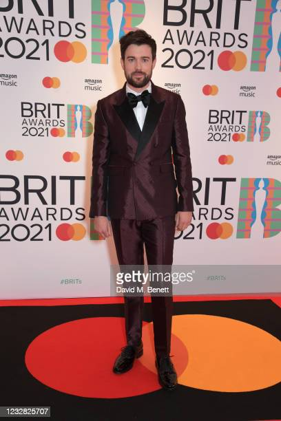 Jack Whitehall arrives at The BRIT Awards 2021 at The O2 Arena on May 11, 2021 in London, England.