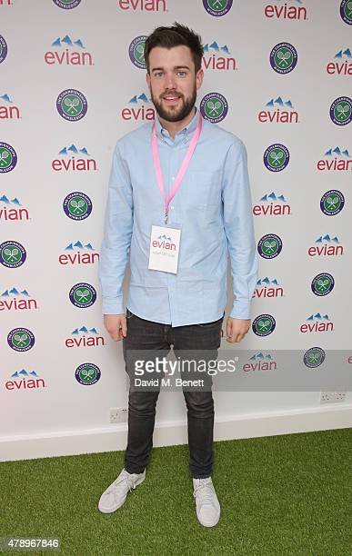 Jack Whitehall attends the evian Live Young suite on the opening day of Wimbledon at the All England Lawn Tennis and Croquet Club on June 29 2015 in...