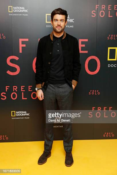 Jack Whitehall attends the National Geographic Documentary Films London Premiere of Free Solo at BFI Southbank on December 11 2018 in London England...