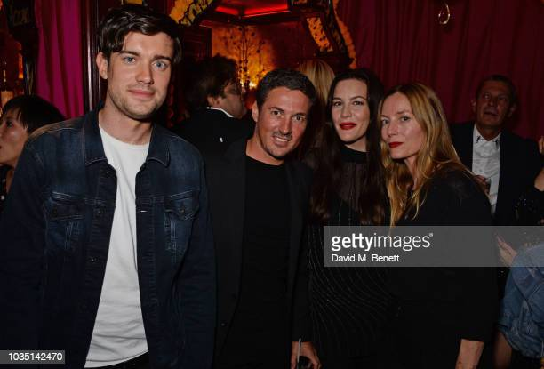 Jack Whitehall Dave Gardner Liv Tyler and Lucie de la Falaise attends the LOVE Magazine 10th birthday party with PerrierJouet at Loulou's on...