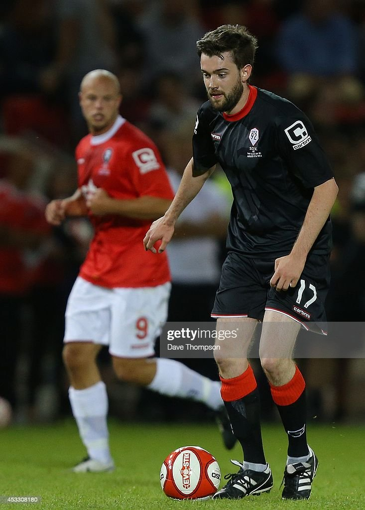 Jack Whitehall of the Class of '92 XI during the match between Salford City and the Class of '92 XI at AJ Bell Stadium on August 7, 2014 in Salford, England.