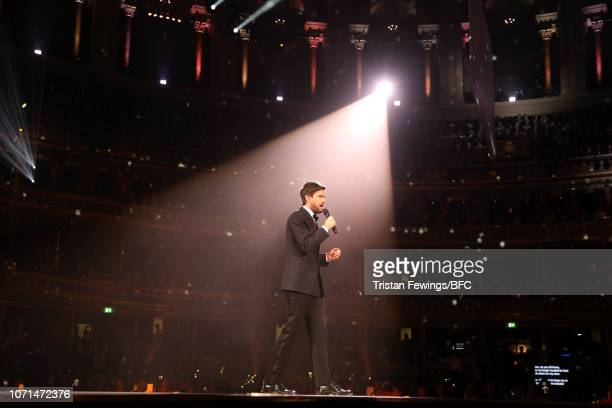Jack Whitehall on stage during The Fashion Awards 2018 In Partnership With Swarovski at Royal Albert Hall on December 10 2018 in London England