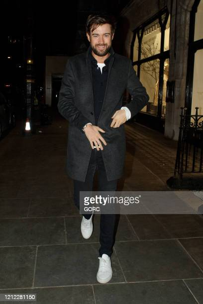 Jack Whitehall seen arriving at Scott's restaurant in Mayfair on March 13, 2020 in London, England.