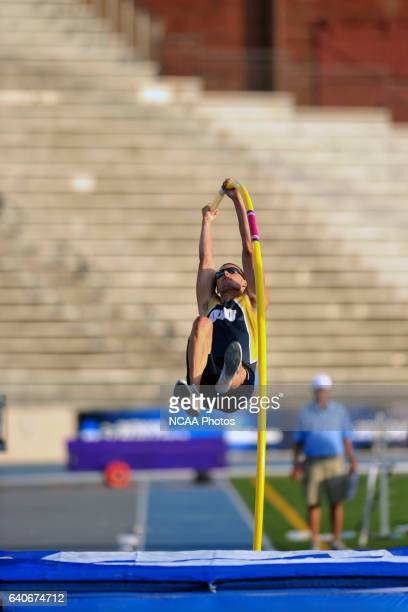 Jack Whitt of Oral Roberts competes inmen's Pole Vault competition during the Division I Men's and Women's Outdoor Track and Field Championship held...
