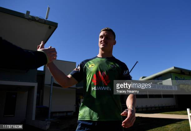 Jack Wighton of the Raiders during a Canberra Raiders NRL training session at Raiders HQ on September 11 2019 in Canberra Australia