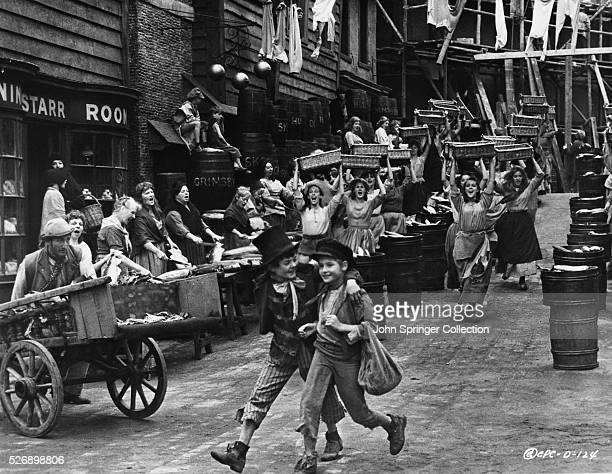 Jack Wild as The Artful Dodger and Mark Lester as Oliver Twist in the 1968 musical Oliver