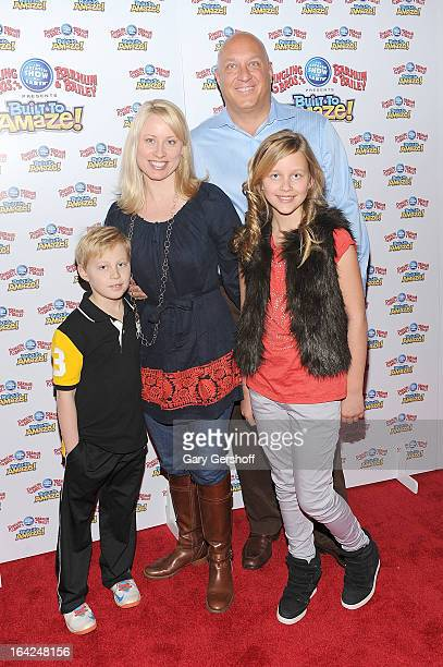 Jack Wilkos Rachelle Consiglio Steve Wilkos and Ruby Wilkos attend the Ringling Bros and Barnum Bailey 'Build To Amaze' Opening Night at Barclays...
