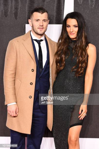 Jack Wilshere and Andriani Michael attend the European Premiere of Creed II at BFI IMAX on November 28 2018 in London England