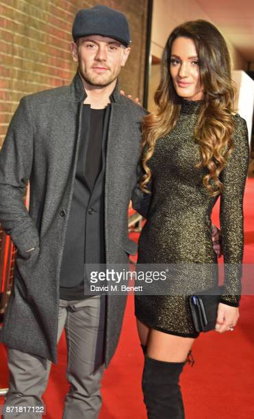 Jack Wilshere and Andriani Michael attend the World Premiere of 89 at the Odeon Holloway on November 8 2017 in London England