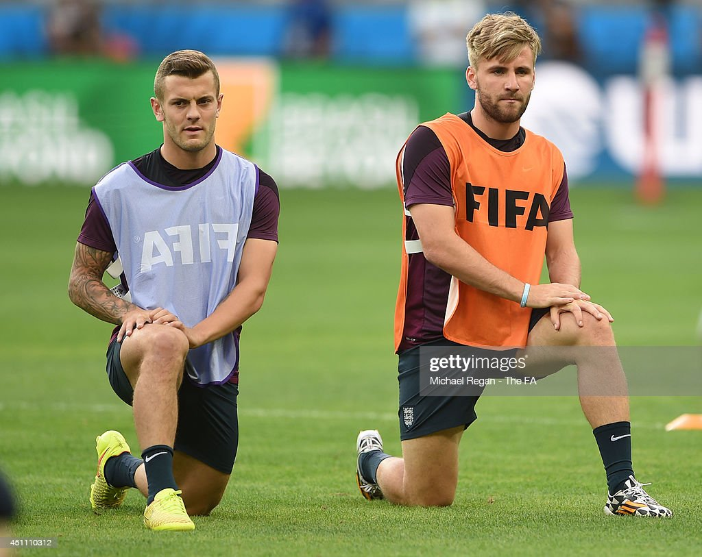 England Training & Press Conference - 2014 FIFA World Cup Brazil : News Photo