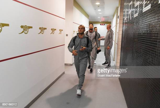 Jack Wilshere arrives in the Arsenal changing room before the Carabao Cup Third Round match between Arsenal and Doncaster Rovers at Emirates Stadium...