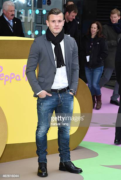 Jack Wilshere attends the UK premiere of 'Peppa Pig The Golden Boots' at Odeon Leicester Square on February 1 2015 in London England
