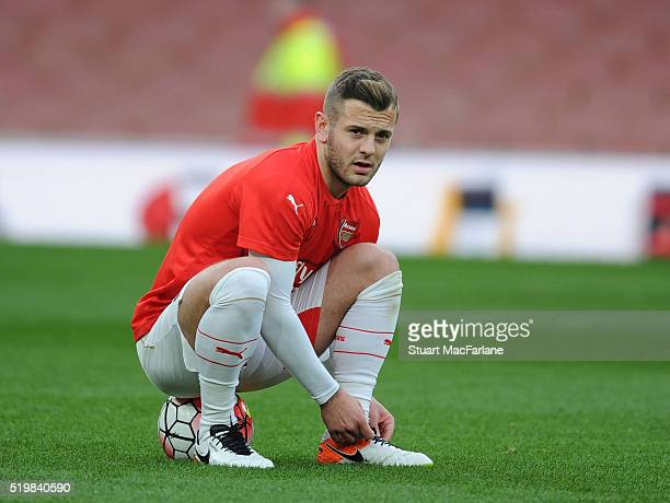 Jack Wilshere of Arsenal before the Barclays Premier League match between Arsenal and Newcastle United at Emirates Stadium on April 8 2016 in London...