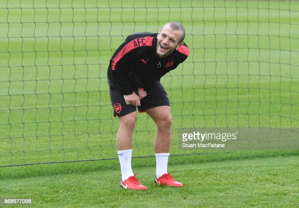 Jack Wilshere of Arsenal during a training session at London Colney on November 1 2017 in St Albans England