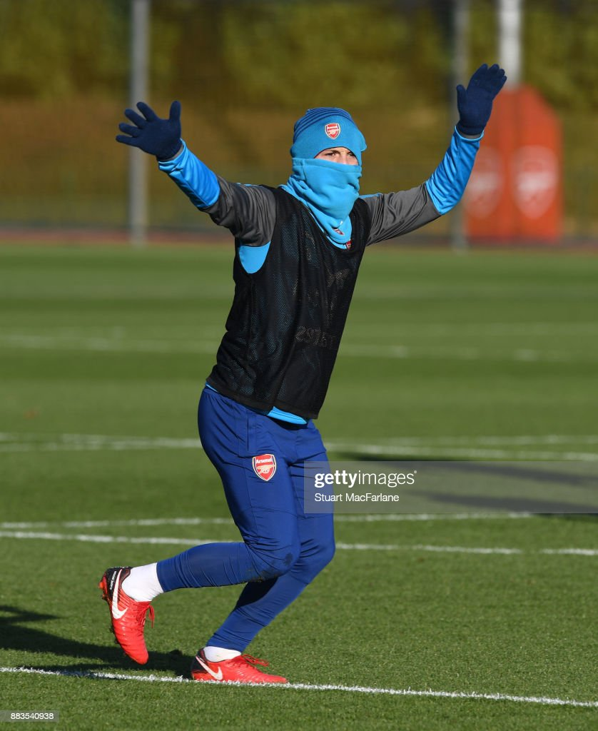 Jack Wilshere of Arsenal during a training session at London Colney on December 1, 2017 in St Albans, England.