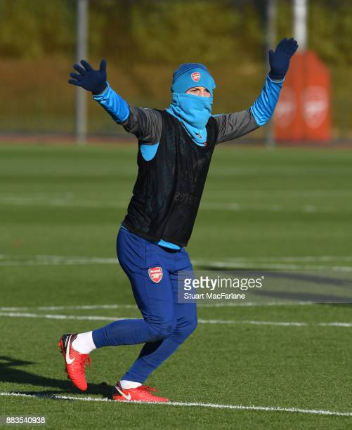 Jack Wilshere of Arsenal during a training session at London Colney on December 1 2017 in St Albans England