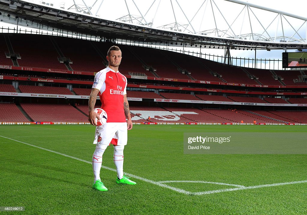 Jack Wilshere of Arsenal during the 1st team photocall at Emirates Stadium on July 28, 2015 in London, England.