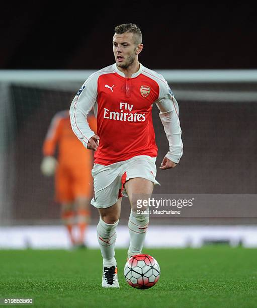 Jack Wilshere of Arsenal during the Barclays Premier League match between Arsenal and Newcastle United at Emirates Stadium on April 8 2016 in London...