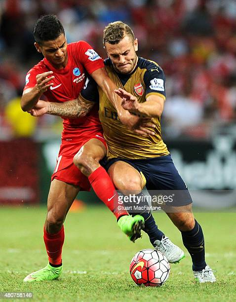 Jack Wilshere of Arsenal during the match between Arsenal and Singapore XI at the Singapore National Stadium on July 15 2015 in Kallang