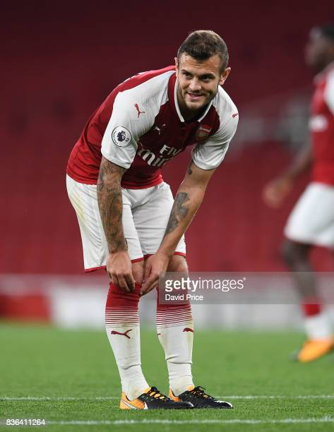 Jack Wilshere of Arsenal during the match between Arsenal U23 and Manchester City U23 at Emirates Stadium on August 21 2017 in London England