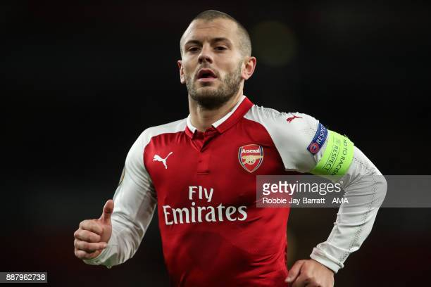 Jack Wilshere of Arsenal during the UEFA Europa League group H match between Arsenal FC and BATE Borisov at Emirates Stadium on December 7 2017 in...