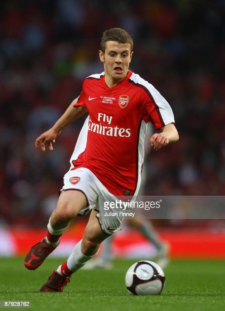 Jack Wilshere of Arsenal in action during the FA Youth Cup Final 1st Leg match between Arsenal and Liverpool at The Emirates Stadium on May 22 2009...