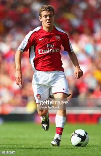 Jack Wilshere of Arsenal in action during the preseason friendly match between Arsenal and Juventus during the Emirates Cup at the Emirates Stadium...