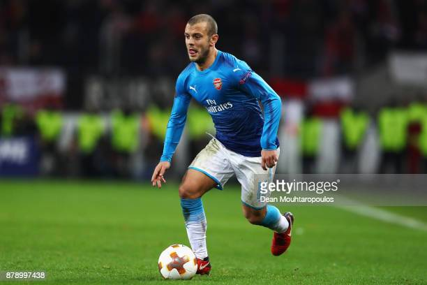 Jack Wilshere of Arsenal in action during the UEFA Europa League group H match between 1 FC Koeln and Arsenal FC at RheinEnergieStadion on November...
