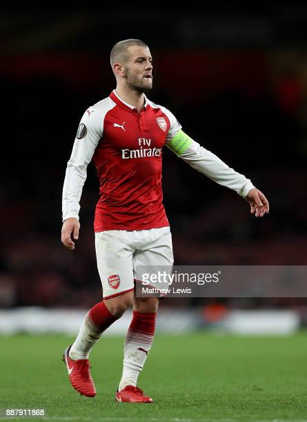 Jack Wilshere of Arsenal in action during the UEFA Europa League group H match between Arsenal FC and BATE Borisov at Emirates Stadium on December 7...