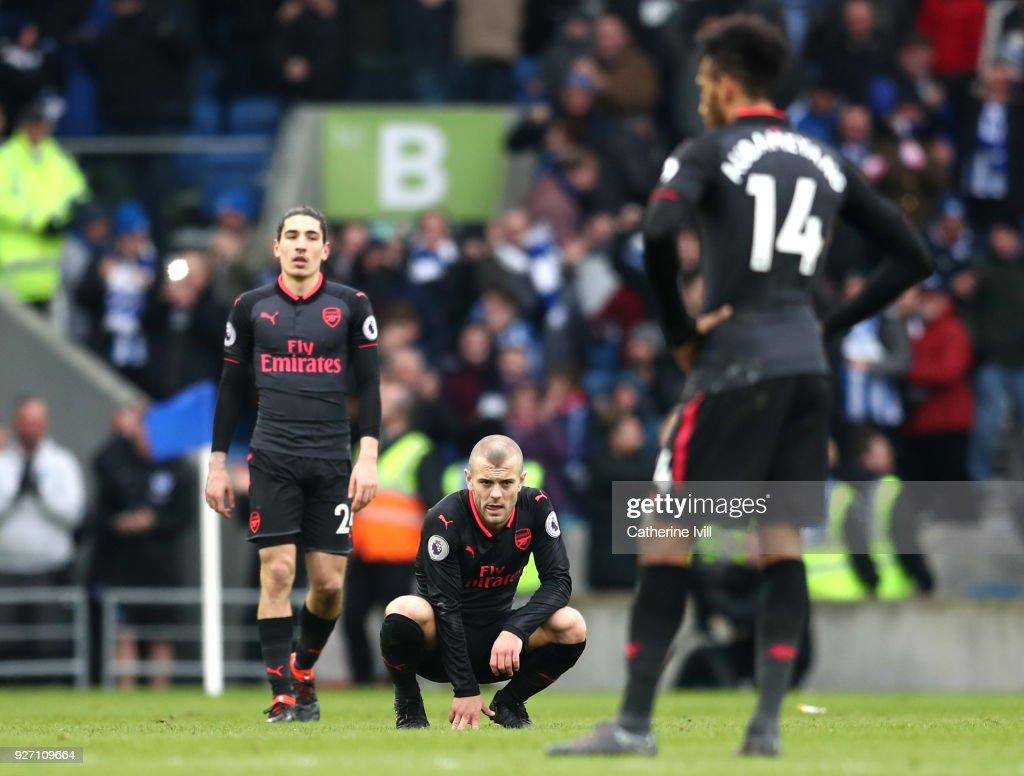 Brighton and Hove Albion v Arsenal - Premier League : Fotografia de notícias