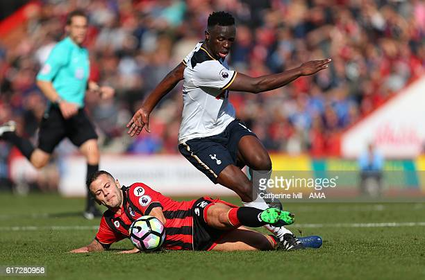 Jack Wilshere of Bournemouth and Victor Wanyama of Tottenham Hotspur during the Premier League match between AFC Bournemouth and Tottenham Hotspur at...