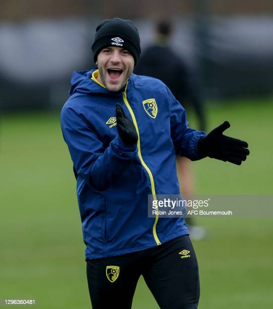 Jack Wilshere of Bournemouth during a training session at the Vitality Stadium on January 14, 2021 in Bournemouth, England.