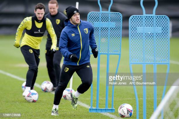 Jack Wilshere of Bournemouth during a training session at the Vitality Stadium on January 28, 2021 in Bournemouth, England.