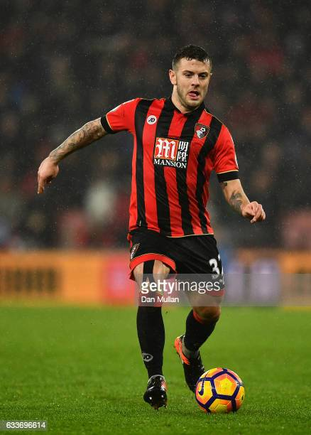Jack Wilshere of Bournemouth during the Premier League match between AFC Bournemouth and Crystal Palace at Vitality Stadium on January 31, 2017 in...