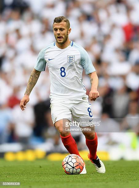 Jack Wilshere of England in action during the International Friendly match between England and Turkey at Etihad Stadium on May 22 2016 in Manchester...
