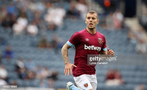 Jack Wilshere of West Ham United during the PreSeason Friendly between Preston North End and West Ham United at Deepdale on July 21 2018 in Preston...