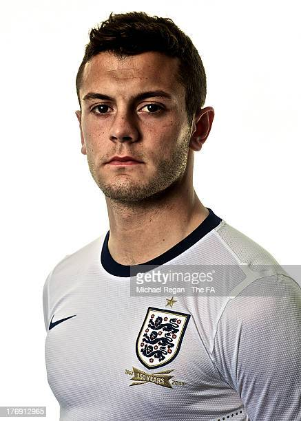 Jack Wilshere poses for a portrait after the England training session and press conference at St Georges Park on August 12, 2013 in...