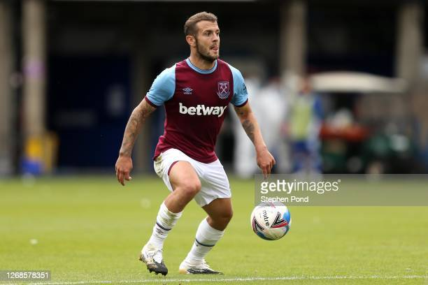 Jack Wilshire of West Ham United during the Pre-Season Friendly between Ipswich Town and West Ham United at Portman Road on August 25, 2020 in...