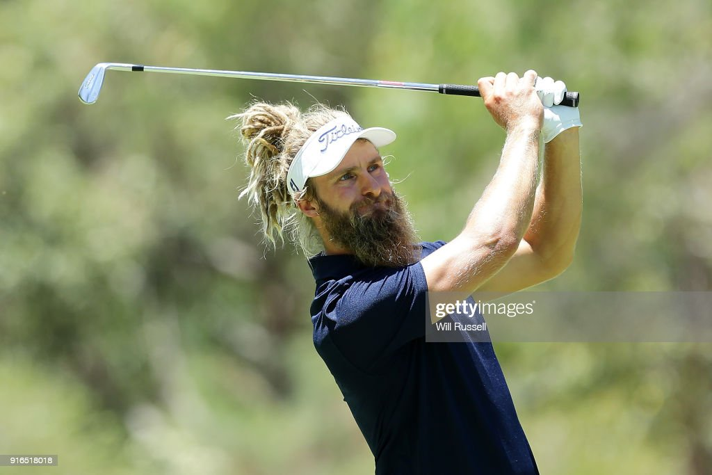 Jack Wilson of Australia plays his second shot on the 6th hole during day three of the World Super 6 at Lake Karrinyup Country Club on February 10, 2018 in Perth, Australia.