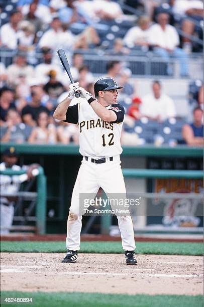 Jack Wilson of the Pittsburgh Pirates bats during a game against the Milwaukee Brewers at PNC Park on August 18 2002 in Pittsburgh Pennsylvania
