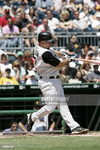 Jack Wilson of the Pittsburgh Pirates bats during the game against the Atlanta Braves at PNC Park in Pittsburgh Pennsylvania on May 13 2007 The...